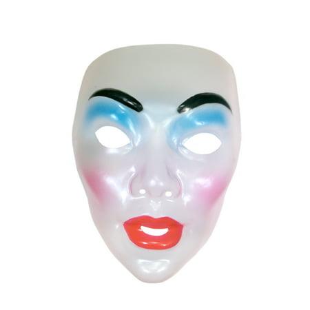 Mask Transparent Clear Face Adult Costume Accessory Plastic - Transparent Mask