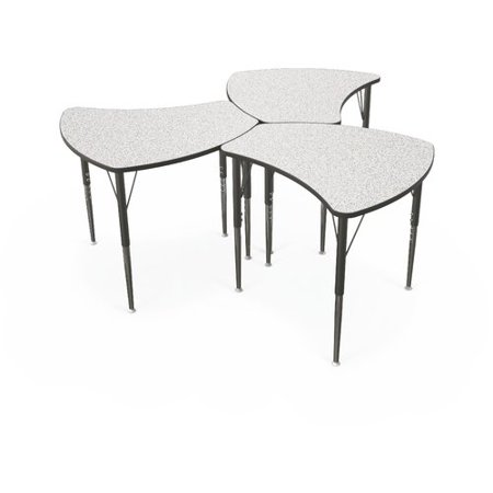 Balt Economy Wood Adjustable Height Collaborative Desk