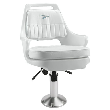 Helm Seat (Wise 8WD015-12-710 Pilot Helm Chair & Mainstay Air Adjustable Pedestal with Seat Slide Combo )