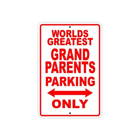 Fan Parking Sign - World's Greatest Grandparents Parking Only Sign Gift Wall Novelty Aluminum 8