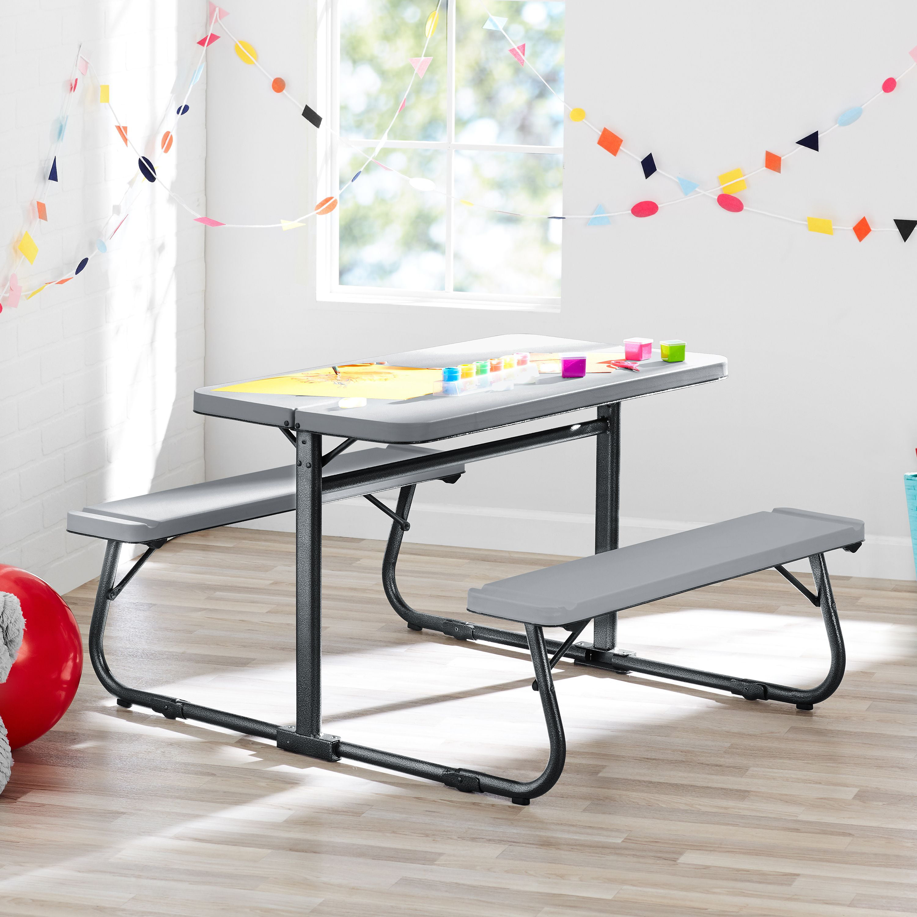 Prime Your Zone Folding Kids Activity Table With Two Benches Ocoug Best Dining Table And Chair Ideas Images Ocougorg