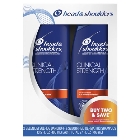 Head and Shoulders Clinical Strength Dandruff and Seborrheic Dermatitis Shampoo, 13.5 fl oz Twin