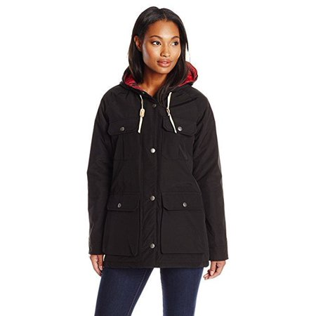 Woolrich Women's Advisory Wool Insulated Mountain Parka, Black, XX-Large (Woolrich Spring)