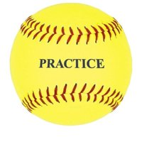 "12"" Yellow Practice Softball"