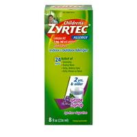 Zyrtec 24 Hr Children's Allergy Relief Syrup, Grape Flavor, 8 fl. oz