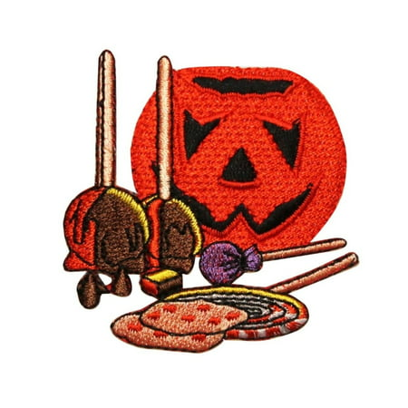 ID 0806 Trick Or Treat Candy Patch Halloween Night Embroidered Iron On Applique