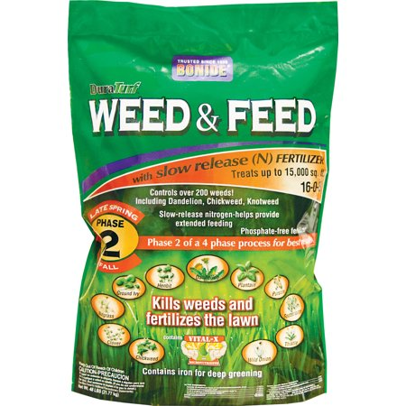 Bonide Fertilizer-Duraturf Weed & Feed For Lawns- Phase 2-late Sp 15000 Sq