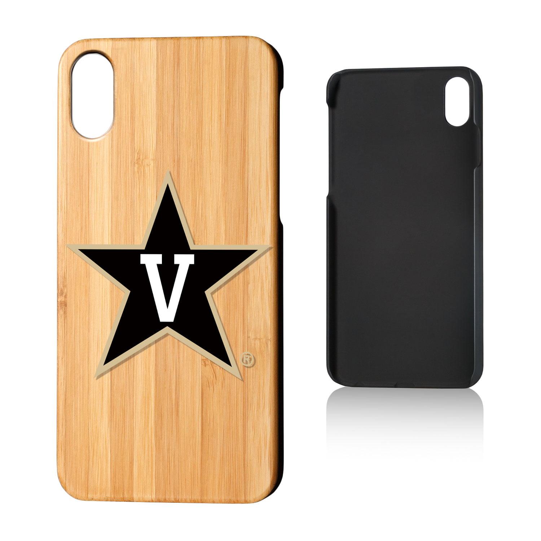 VU Vanderbilt Commodores Insignia Bamboo Case for iPhone X