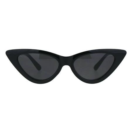 Girls Kid Size Mod Plastic Cat Eye Minimal Chic Retro Sunglasses All - Cat Eye Retro Sunglasses