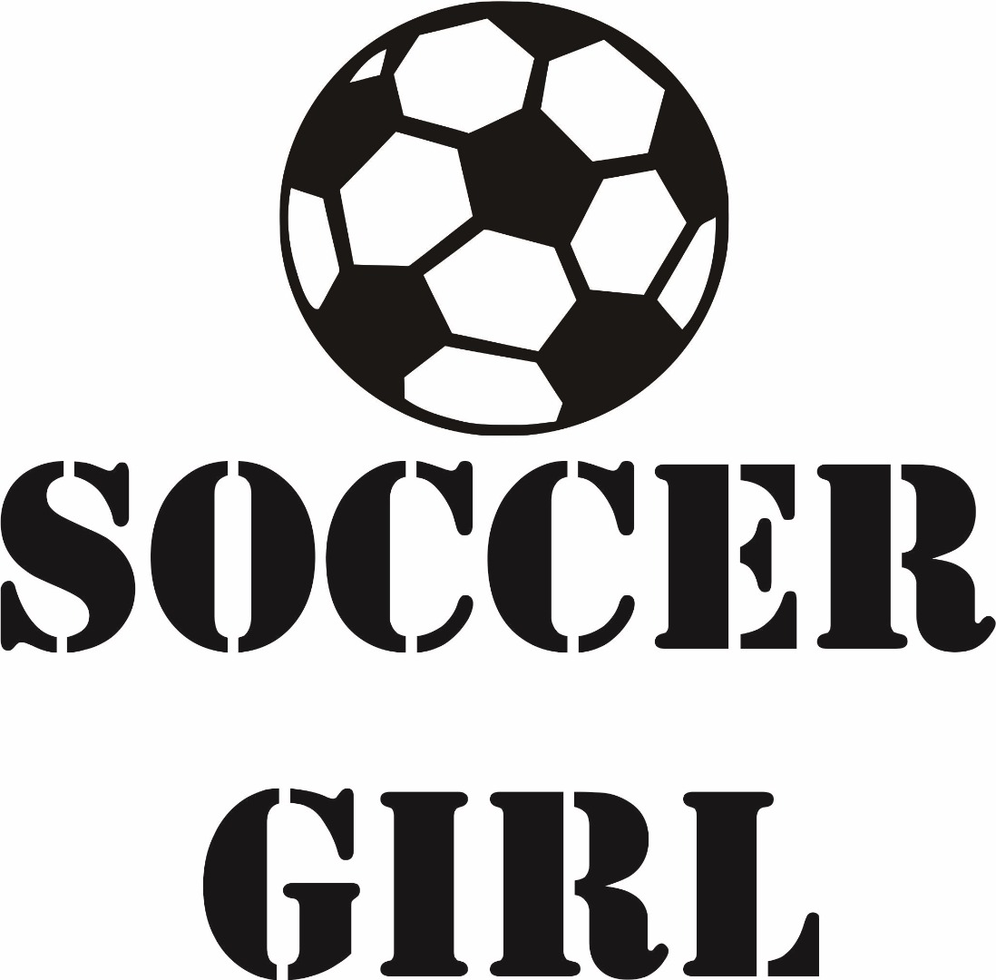 Custom Wall Decal : Soccer Girl Ball Player Sports Kids Boy Bedroom 12x12""