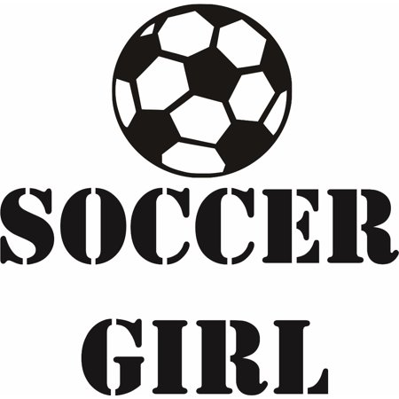 Custom Wall Decal Sticker : Soccer Girl Ball Player Sports Kids Boy Bedroom 12x12