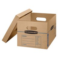 Bankers Box SmoothMove 5 Count Small Moving Boxes