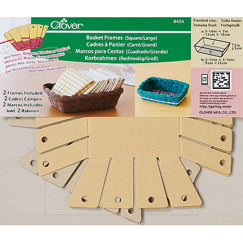 Clover 8424 2-Piece 7-Inch By 5-1/8-Inch By 2-Inch Basket Frames Large Square