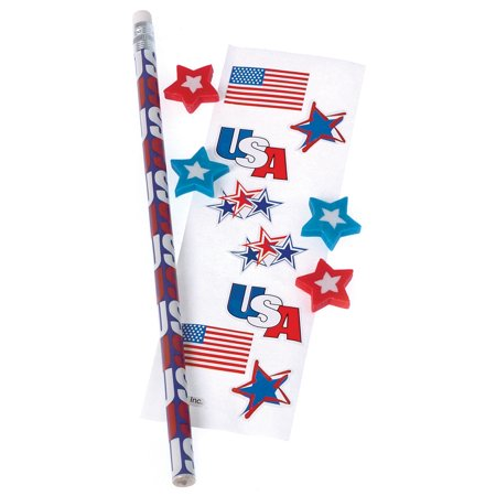 4th Of July Favors (US Toy Fourth of July Patriotic 6pc 7 1/2