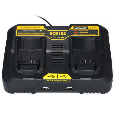 DCB102 Replacement for DCB102 20-volt MAX Jobsite Charging Station Dual USB Ports Battery Tools - image 3 de 7