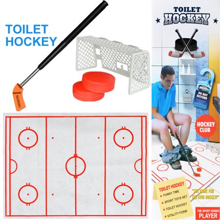 Outtop Toilet Hockey Game Decompression Fun Game Ice-hockey Toy - Fun Game S