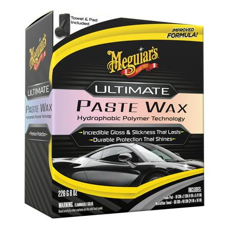 Meguiar's Ultimate Paste Wax Long-Lasting Easy to Use Synthetic Wax, G210608, 8 oz