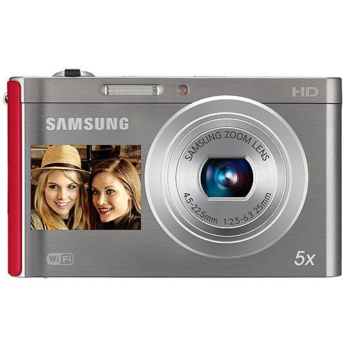 Samsung Dv300f Silver/red 16mp Dualview