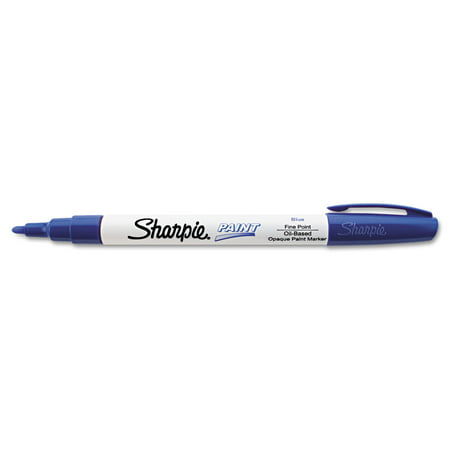 Sharpie Paint Marker Pen Oil Based Fine Point Blue Box of 12 Markers