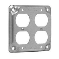 Crouse-Hinds TP510 Steel Raised Surface Cover 4 Inch x 4 Inch x 1/2 Inch