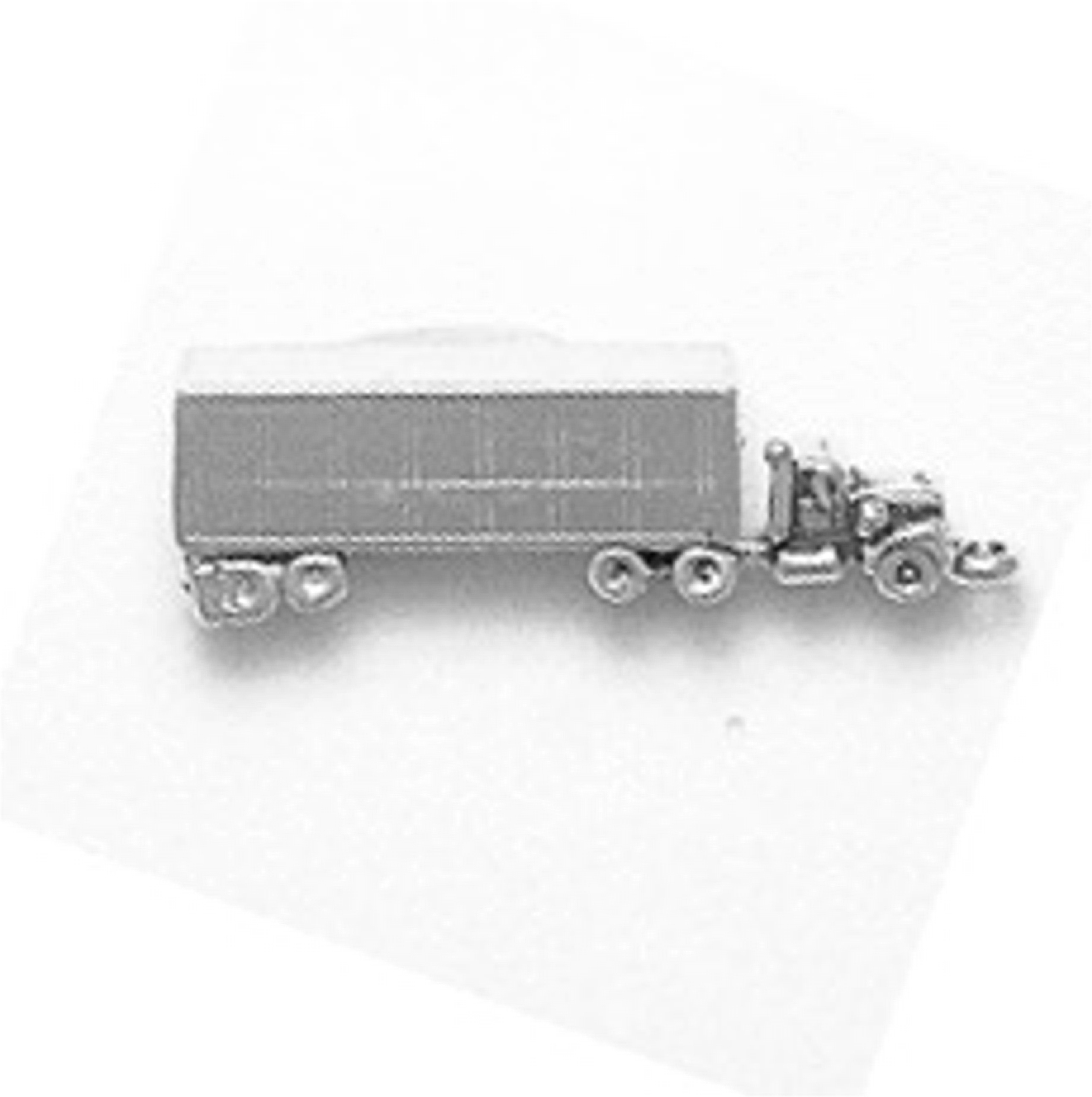 Sterling Silver Mens Unisex 1.5mm Box Chain 3D Camping Trailer Pendant Necklace