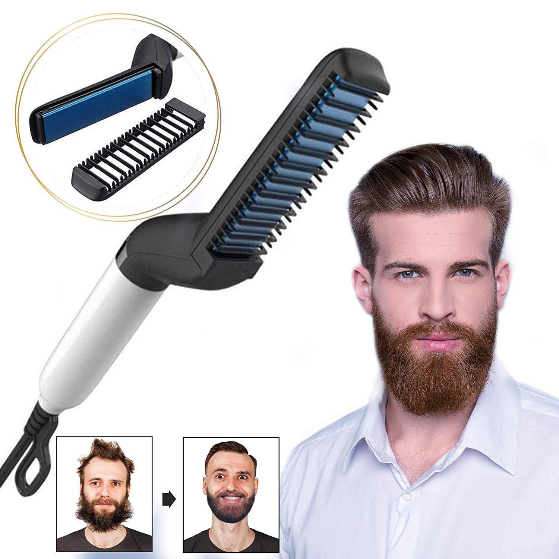 Beard Straightener Upgraded Electric Beard Straightener And Hair Straightener Multifunctional Beard And Hair Straightening Comb Best Heat Beard Straightener And Hair Straightener Brush Walmart Com Walmart Com