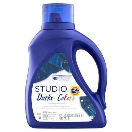 Studio by Tide Liquid Laundry Detergent, Darks & Colors, 75 fl oz 48 loads