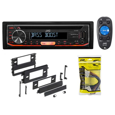 1 Din Jvc Cd Player Receiver Usb Aux Mp3 3 Band Eq Remote For 0204 Nissan Altima