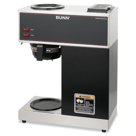 Bunn Vpr Two Burner Pourover Coffee Brewer  Stainless Steel  Black