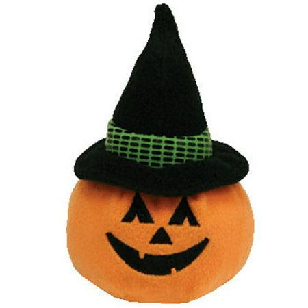 TY Halloweenie Beanie Baby - WITCHKIN the Pumpkin Witch (3.5 inch) - Witch Staff