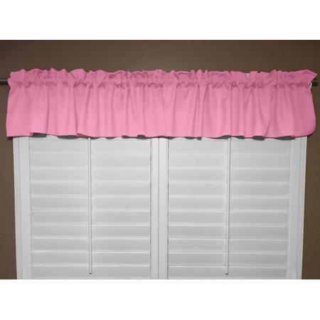 Solid Poplin Window Valance 58 Wide Pink Walmart Com Walmart Com