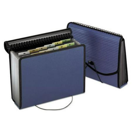 Pendaflex 13-Pocket Expanding Spiral File, Letter, Poly, Navy Blue