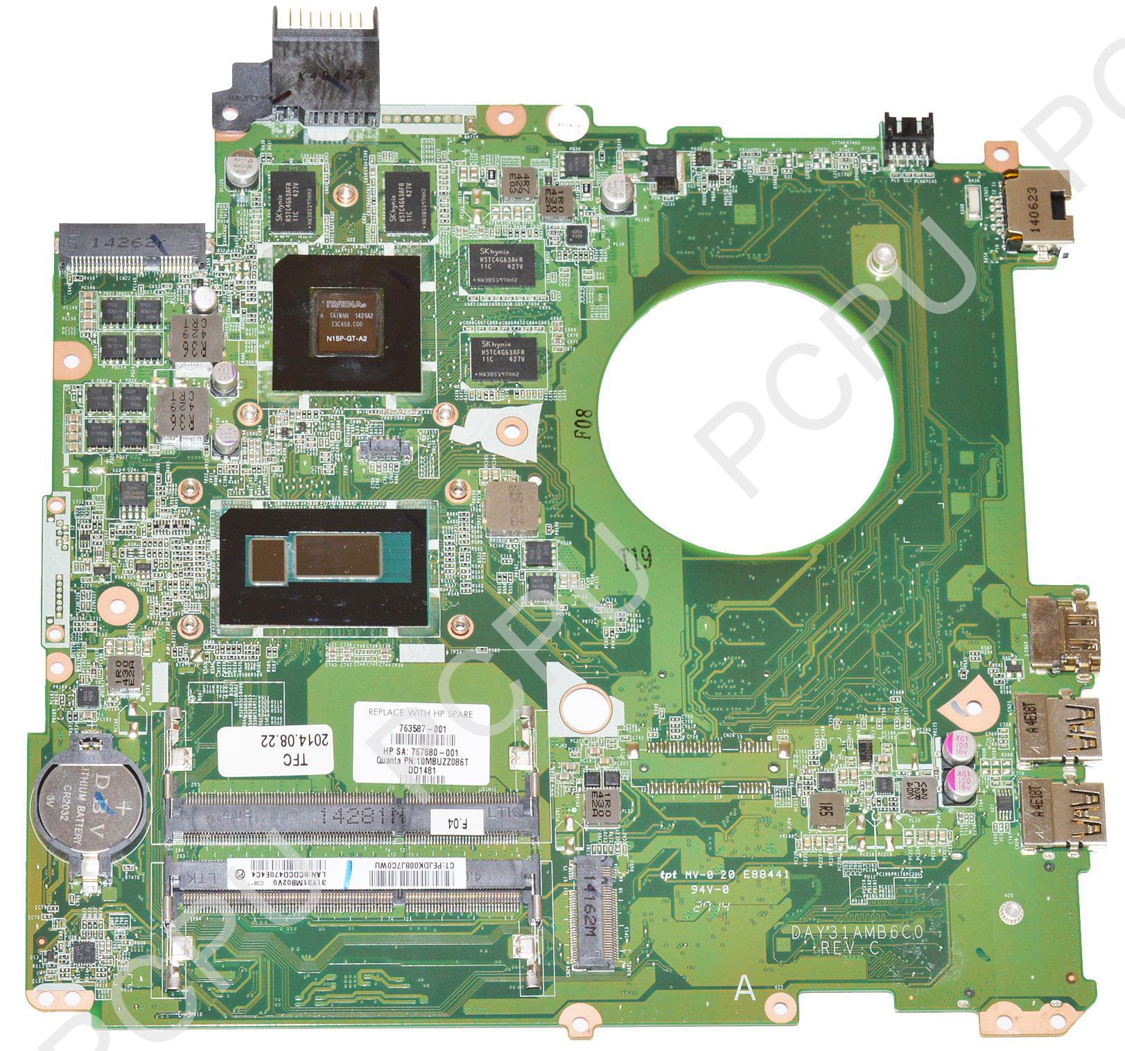 763587-001 HP Pavilion 15-K Laptop Motherboard 850M/4GB w...