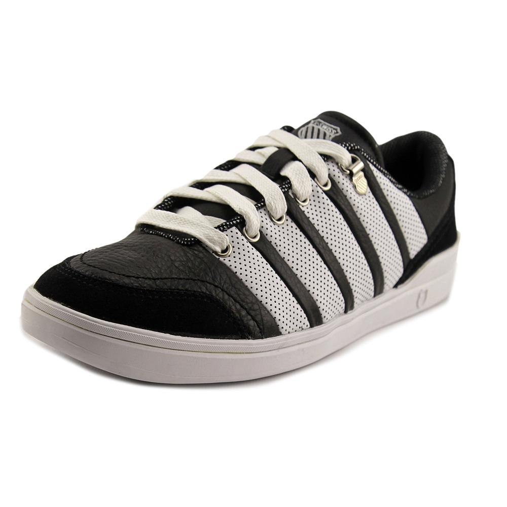K-Swiss Grande Court Men Round Toe Leather Black Sneakers by K-Swiss
