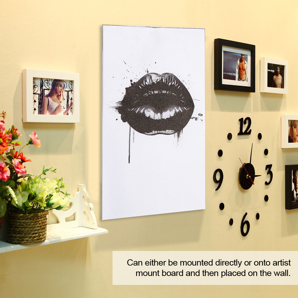 Black Lips Canvas Wall Art Printing Poster Living Room Home Office ...