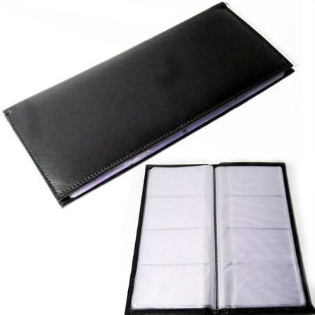 Genuine Leather Business Card Holder Book Organizer 96 Black Office