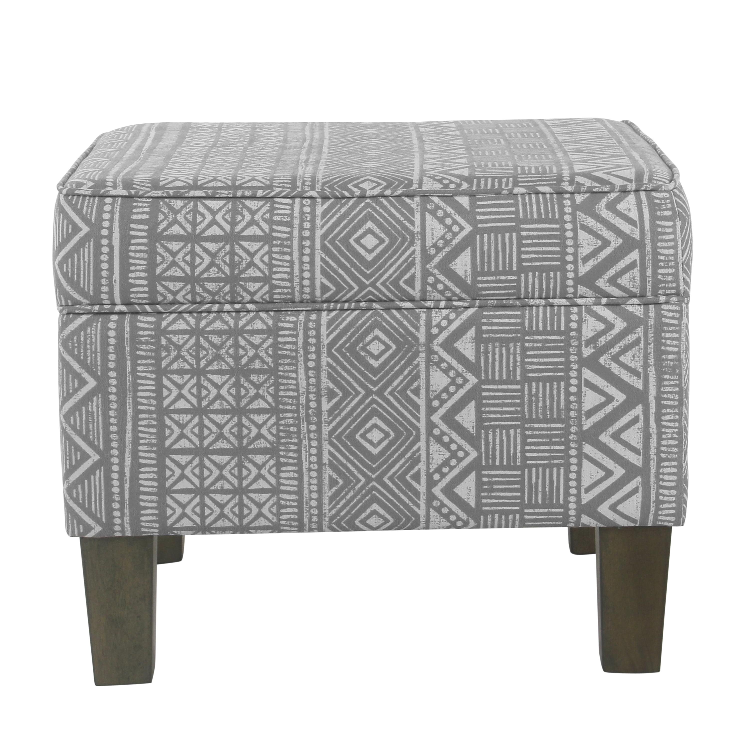 HomePop Medium Decorative Storage Bench, Multiple Colors