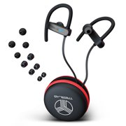 TREBLAB XR800 Bluetooth Sports Headphones, Wireless Earbuds for Running, Gym Workouts. IPX7 Waterproof, Sweatproof, Secure-Fit Noise Cancelling Earphones w/Mic, Stylish Cordless Headset (Black-Gray)
