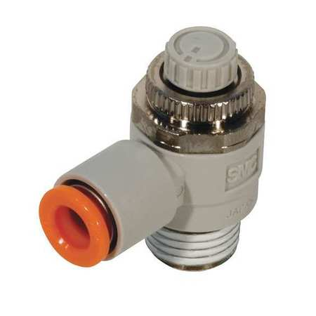 SMC Speed Control Valve,8mm Tube,1/4 In, AS2211F-02-08S