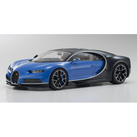 Bugatti Chrion Ousia, Blue w/ Black - Kyosho KYO9548BB - 1/18 Scale Diecast Model Toy Car
