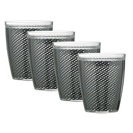 Kraftware Fishnet 14 oz. Doublewall Drinkware - Set of 4