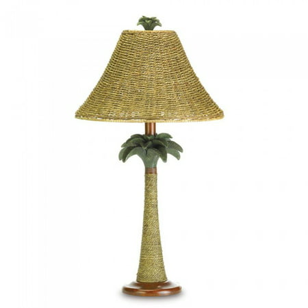 PALM TREE RATTAN LAMP ()