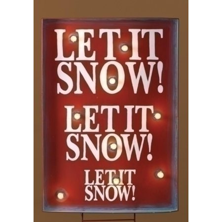 """34"""" Lighted """"Let it Snow"""" Christmas Sign Outdoor Decoration - image 1 of 1"""
