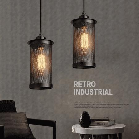 Retro Industrial Style Ceiling Lamp Edison Chandelier Pendant Lighting Hanging Fixture Black With Light Bulbs for - Hanging Pendant Chandelier