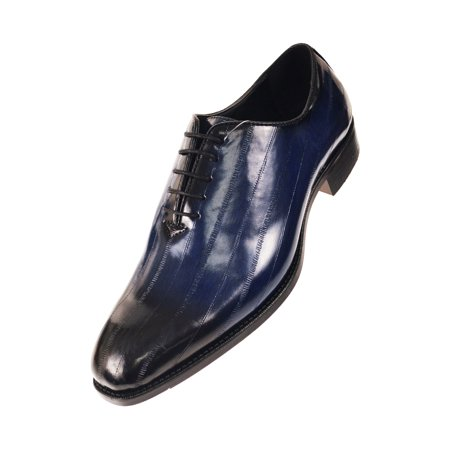 33247bbbf734 Bolano - Bolano Mens Exotic Faux EEL and Croco Skin Oxford Dress Shoes with  Black Burnished Toe - Walmart.com