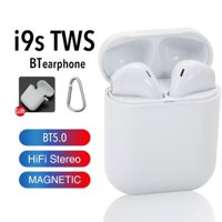 Wireless Earbuds, Magnetic BT 5.0 Earbuds, Wireless Earphones Mini in-Ear Headsets Sports Earphone with 2 True Wireless Earbuds Compatible with All Smartphones (PACK OF 3)