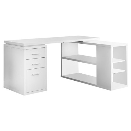 Monarch Hollow-Core Left or Right Facing Corner Desk - White ()