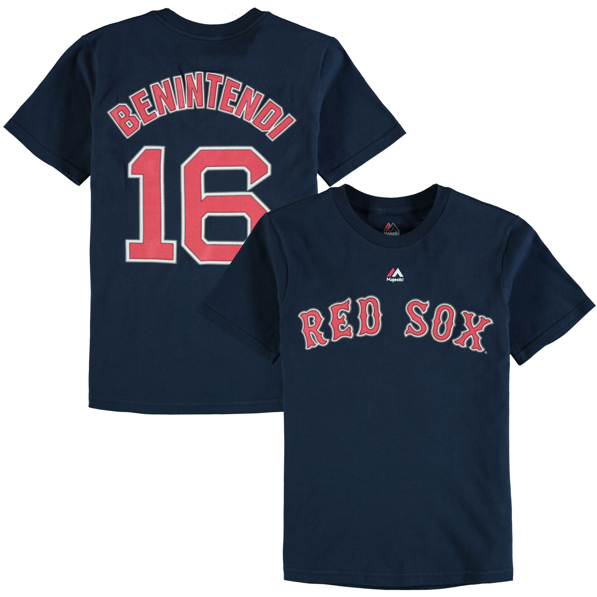 Andrew Benintendi Boston Red Sox Majestic Youth Player Name & Number T-Shirt - Navy