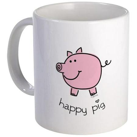 CafePress - Happy Pig Mug - Unique Coffee Mug, Coffee Cup CafePress