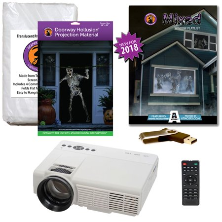 Halloween Projector Kit for Windows, Doors & Walls with Mixed AtmosFEARFx on USB + 2 Screens (R/D) + Projector](Art Projects For Halloween)